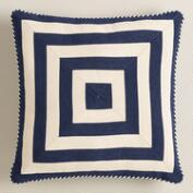 Navy Mitered Square Throw Pillow