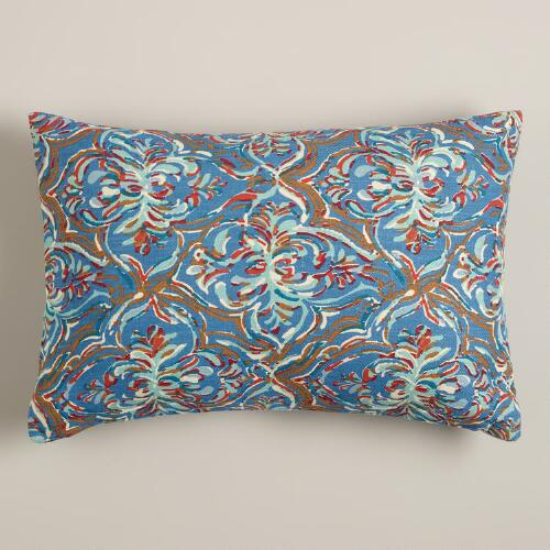 Iris Print Lumbar Pillow