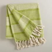 Green Monochrome Throw