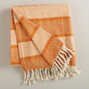Orange Monochrome Throw