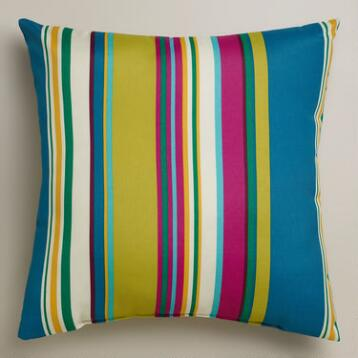 Thailand Stripe Outdoor Throw Pillow
