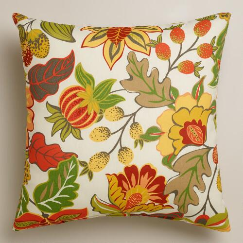 Floral Henri Outdoor Throw Pillow