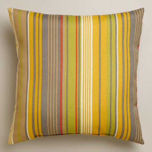 Waterfront Life Stripe Outdoor Throw Pillow