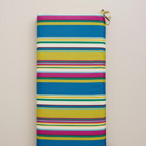 Thailand Stripe Outdoor Bench Cushion