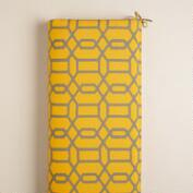 Yellow and Gray Gate Outdoor Bench Cushion