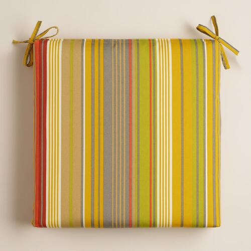 Waterfront Life Stripe Outdoor Chair Cushion