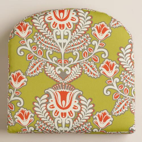 Summer Goddess Outdoor Gusset Chair Cushion