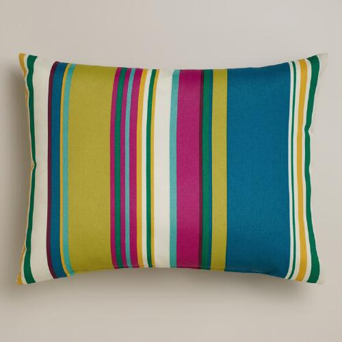 Thailand Stripe Outdoor Lumbar Pillow