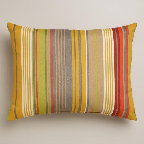 Waterfront Life Stripe Outdoor Lumbar Pillow