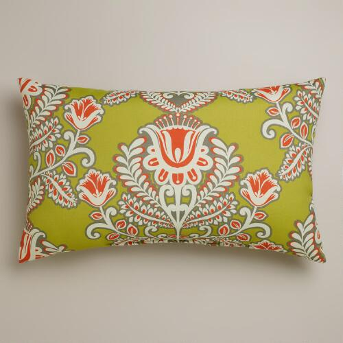 Summer Goddess Wide Outdoor Lumbar Pillow