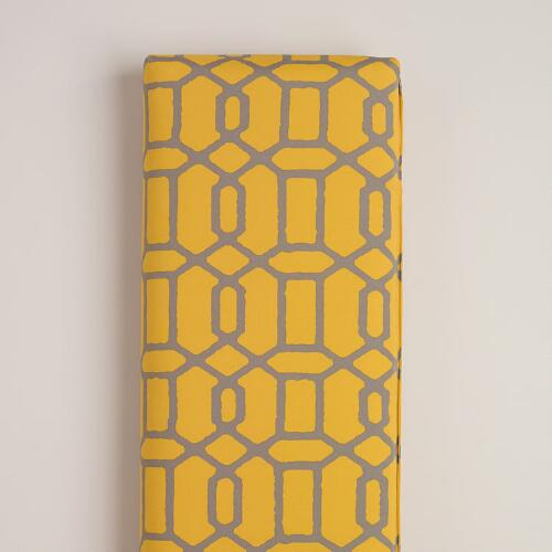 Yellow & Gray Gate Outdoor Bench Cushion
