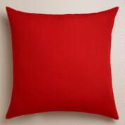 Red Outdoor Throw  Pillow