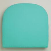 Aqua Gusset Chair Cushion