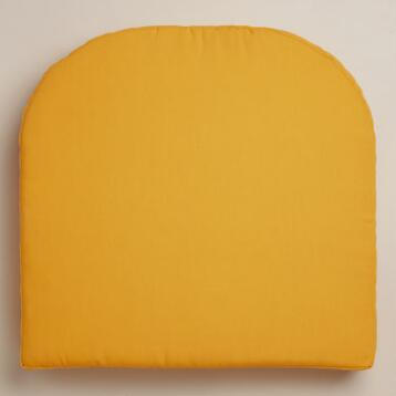 Yellow Gusset Chair Cushion