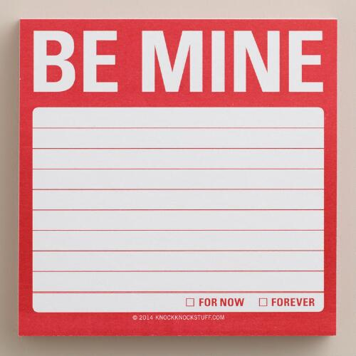 Be Mine Sticky Notes