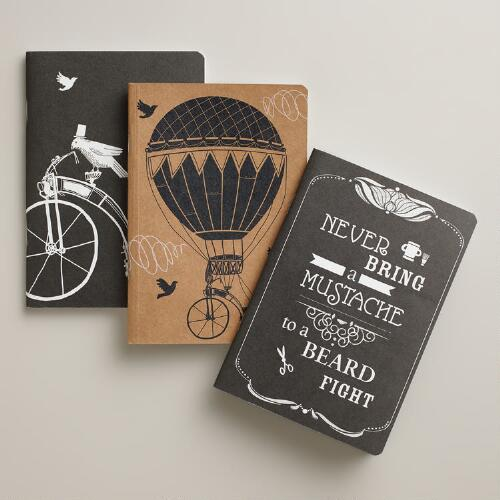 Parisian Steampunk Kraft Journals, 3-Pack