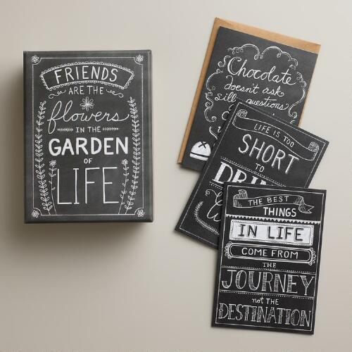 Chalkboard Boxed Notecards, Set of 12