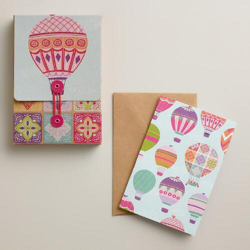 Spring Balloons and Kites Boxed Notecards, Set of 10