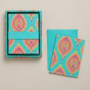 Spring Bliss Paisley Handmade Boxed Notecards, Set of 8