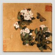 Butterfly and Magnolias Wall Art