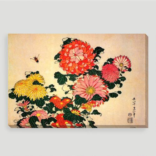 Chrysanthemums and Bee Wall Art