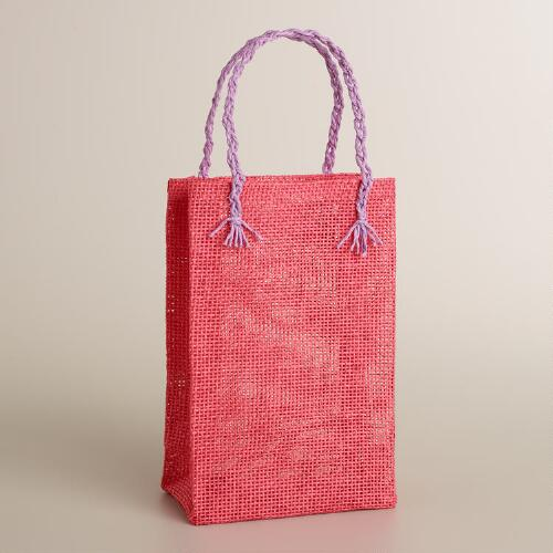 Willow Pink Woven Gift Bag