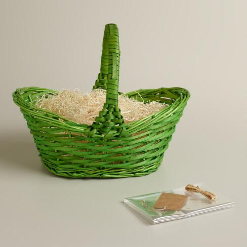 Lime Green Gift Basket Kit