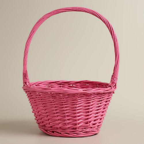 Pink Ellie Willow Easter Basket