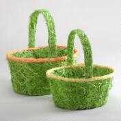 Green Excelsior Easter Baskets