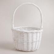 Small White Sarah Willow Easter Basket