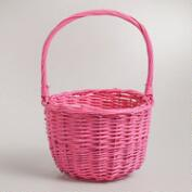 Small Pink Sarah Willow Easter Basket