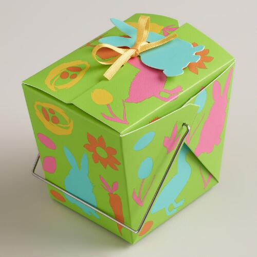 Mini Easter Print Takeout Boxes, Set of 12