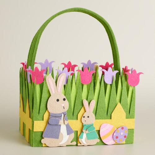 Bunny Family Felt Easter Basket