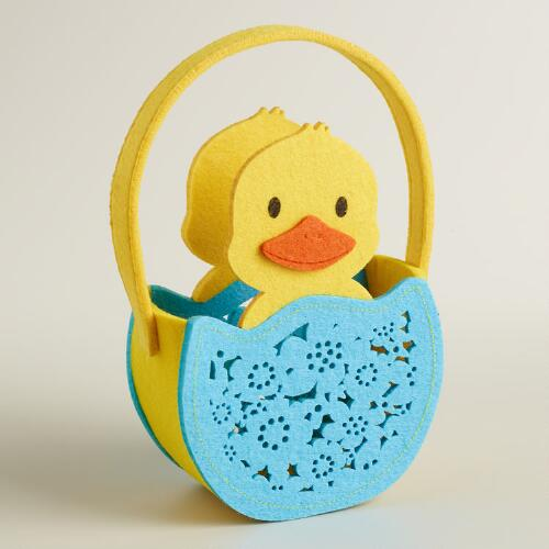 Large Duck Felt Easter Basket
