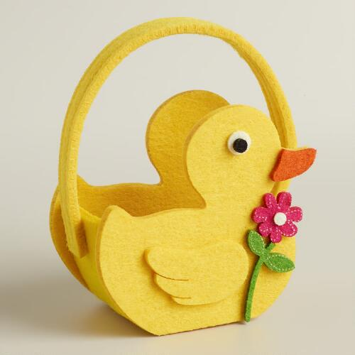 Mini Duck Felt Easter Basket