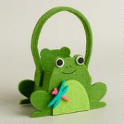 Mini Frog Felt Easter Basket