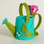 Green Watering Can Felt Easter Basket