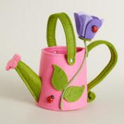 Pink Watering Can Felt Easter Basket
