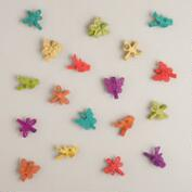 Bird, Butterfly and Dragonfly Wood Clips, 18-Count
