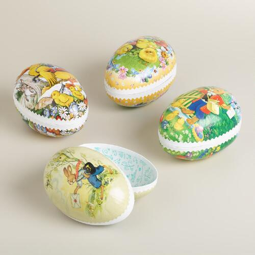 Medium German Nesting Easter Egg Containers, Set of 4