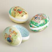 Large German Nesting Easter Egg Containers, Set of 3