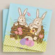 Easter Bunny Beverage Napkins, 16-Count