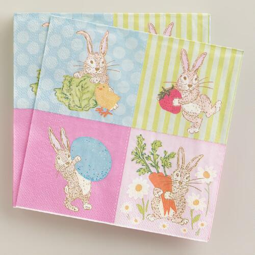 Easter Bunny Lunch Napkins, 16-Count