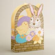 Bunny and Chick Paper Easter Basket Bag