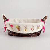 Easter Lined Serving Basket