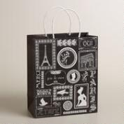 Large Silhouettes Kraft Gift Bag