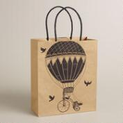 Medium Hot Air Balloons Kraft Gift Bag