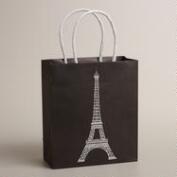 Small Eiffel Tower Kraft Gift Bag