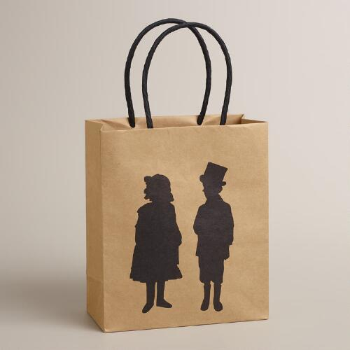 Small Silhouettes Kraft Gift Bag