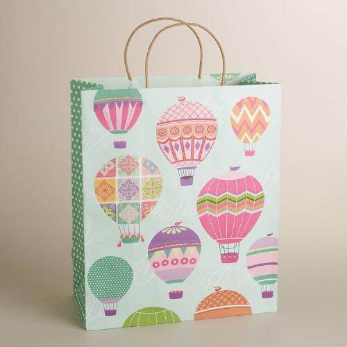 Jumbo Hot Air Balloons Kraft Gift Bag
